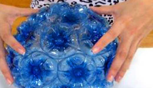 Шарик из пластиковых бутылок своими руками пошагово для начинающих